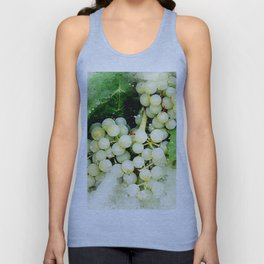 Green Grapes Watercolor Unisex Tank Top