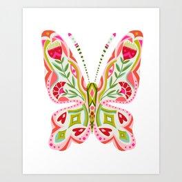 Butterfly no. 2 - hippie floral dorm art Art Print