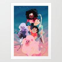steven universe Art Prints featuring Steven Universe by Taylor Barron