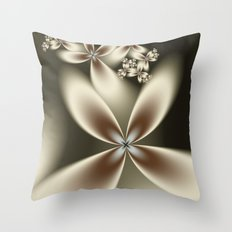 Flower Fractal Throw Pillow