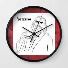 El Duderino Wall Clock