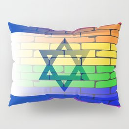 Gay Rainbow Wall Israel Flag Pillow Sham
