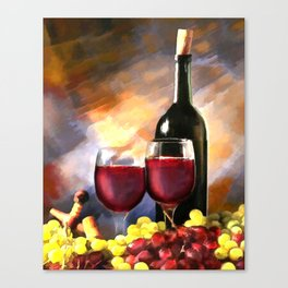 Wine Before & After Canvas Print