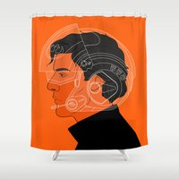 poe Shower Curtains featuring 3/4 by rdjpwns