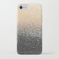 black and gold iPhone & iPod Cases featuring GOLD BLACK by Monika Strigel®