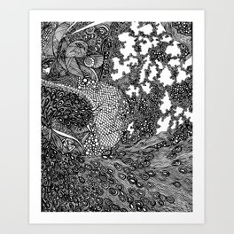 PNI005 | La pavo real de Strut | Limited Edition of 50 Prints Art Print