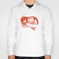moby dick Hoodies featuring Moby Dick by Paul McCreery