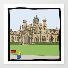 Cambridge struggles: St Johns Canvas Print
