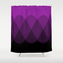 Purple to Black Ombre Signals 2 Shower Curtain