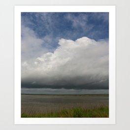 Clouds Over The Marsh Art Print