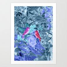 blue&birds Art Print