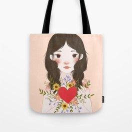 Blossoming Hearts Tote Bag