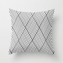 Black white geometric pattern Throw Pillow