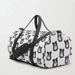 Happy Border Collie Duffle Bag