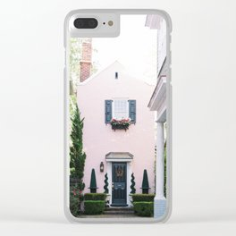 Charleston Pink House Clear iPhone Case