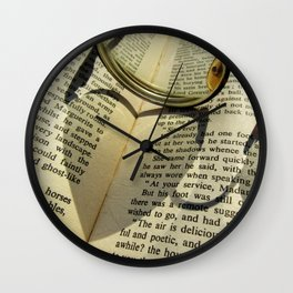 Love to read a book Wall Clock