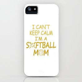 I'M A SOFTBALL MOM iPhone Case