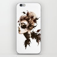 crow iPhone & iPod Skins featuring Crow by Nora Bisi