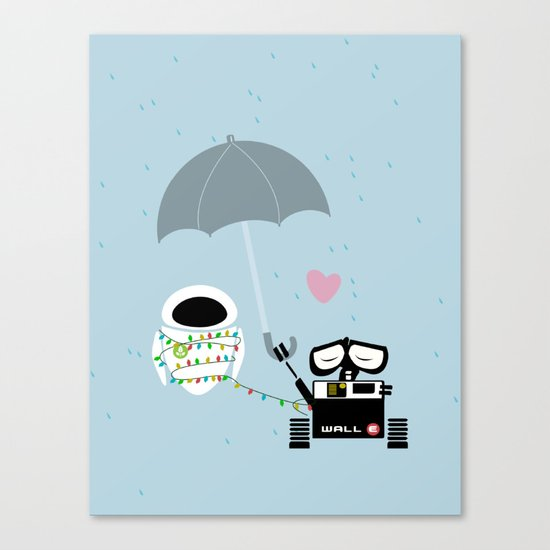 true love.. walle and eve  Canvas Print