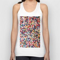 sprinkles Tank Tops featuring SPRINKLES by ThingsLikeStuff