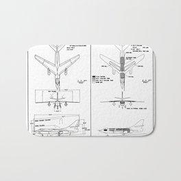 Douglas A-3B Skywarrior Schematic Bath Mat