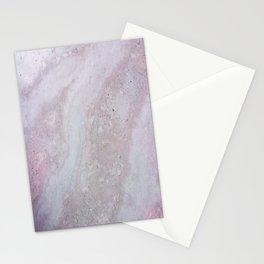 Elegant Pink Polished Marble Stationery Cards