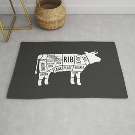 Butchery Guide Cuts Of Beef Rug