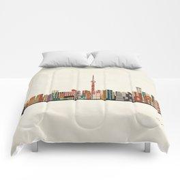 toronto city skyline Comforters
