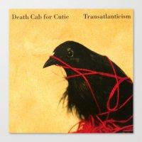 death cab for cutie Canvas Prints featuring Death Cab For Cutie - Transatlanticism by NICEALB