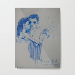 i never felt this way before Metal Print