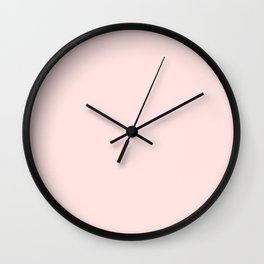 Misty Rose - solid color Wall Clock