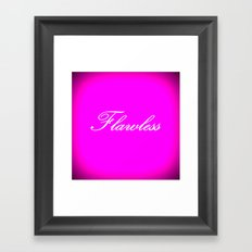 FLAWLEsS Hot Pink Fuchsia Framed Art Print
