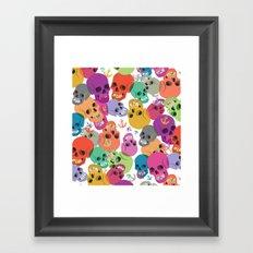 Skulls And Anchors Framed Art Print