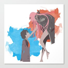 DARLING in the FRANXX Minimalist (Hiro and Zero Two) Canvas Print