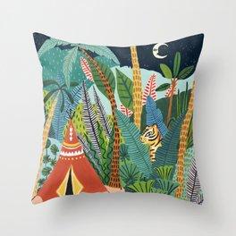 Jungle Tipi Tiger Throw Pillow
