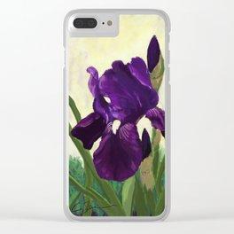 Purple Iris DP150530 Clear iPhone Case