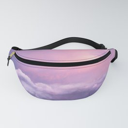Sunset and Clouds   Blush Pink   Unicorn   Sky Fanny Pack