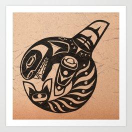 Pacific Northwest Orca Art Print