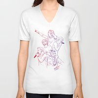 cyrilliart V-neck T-shirts featuring OTRA by Cyrilliart