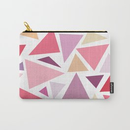 Modern pink pastel colors triangles pattern Carry-All Pouch