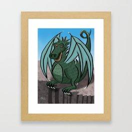 Happy dragon! Framed Art Print