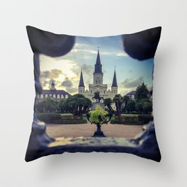 Through the Iron Gates Throw Pillow