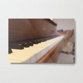 Chestnut Piano Metal Print