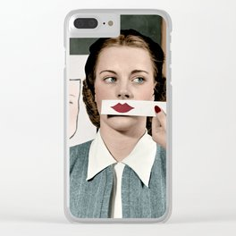 Lips - Stephens College, 1945 - Colorized Clear iPhone Case