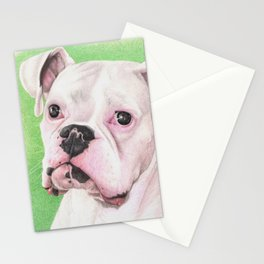 The White Boxer Stationery Cards