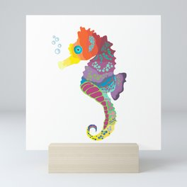 Sea me! I'm a beautiful Seahorse Mini Art Print