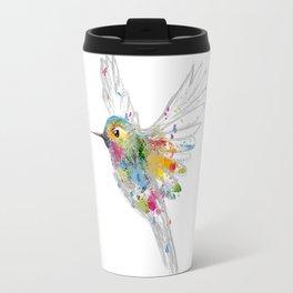 Hummingbird Watercolor Graffiti Travel Mug