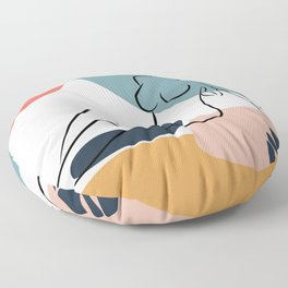 Abstract Sitting Nude Woman, Nude Butt, Legs, Curvy, Sexy, Sensational, Female Nude, Naked Woman Floor Pillow