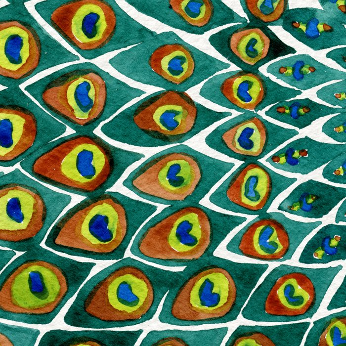 Peacock Mandala Leggings