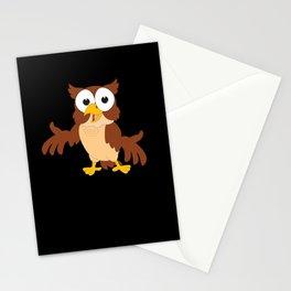 Cartoon Kids Owl Gift Motif Stationery Cards